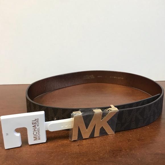 52c8695bbaff NWT Michael Kors MK Logo Belt. Women s Medium.